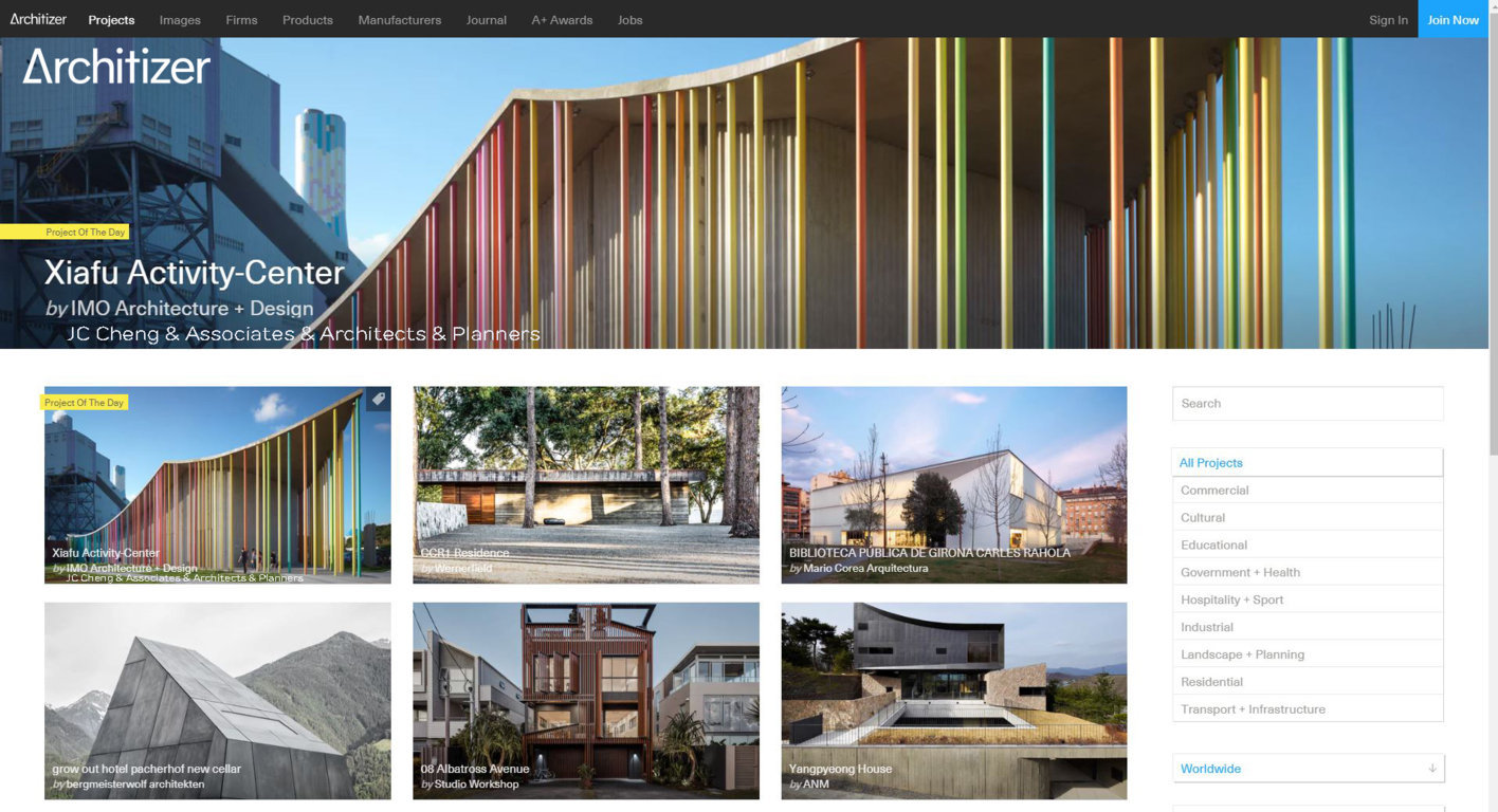 "XIAFU ACTIVITY CENTER featured ""Project of the Day"" in ARCHITIZER"